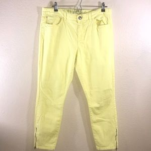 Tommy Hilfiger Yellow Skinny Ankle Crop size 12